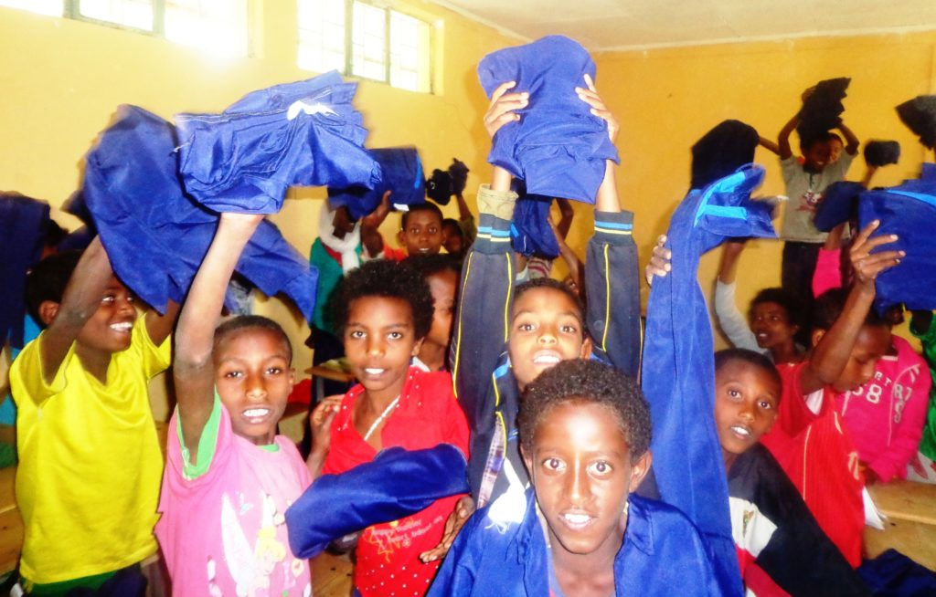 School Uniform distribution in Addis Ababa